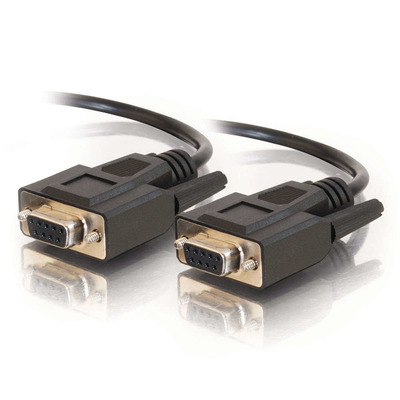 C2G 2m DB9 Cable Seriele kabel - Zwart