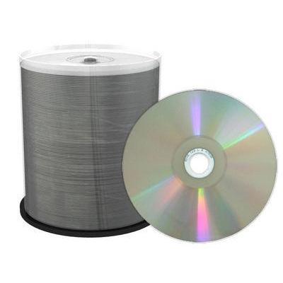 Mediarange CD: CD-R 52x 700MB/80min wide sputtered Thermo Retransfer Fullsurface Printable SILVER PROSELECT Cake 100
