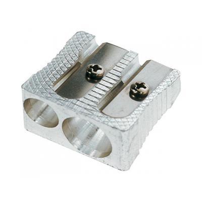 Staples potloodslijper: Potloodslijper SPLS aluminium 2-gaats
