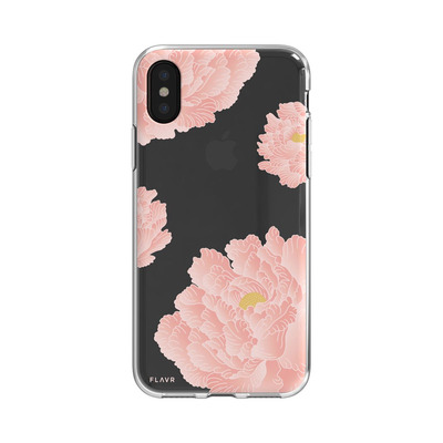 FLAVR Pink Peonies Mobile phone case - Roze, Transparant