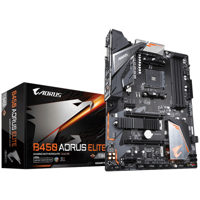 Gigabyte AMD B450 AORUS Motherboard with Hybrid Digital PWM, Dual M.2 with One Thermal Guard, Gaming LAN with .....