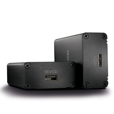 Lindy 5 Gbit/s, 350m, LC, 5V, 3A, 57x93x28mm Netwerk verlenger - Zwart