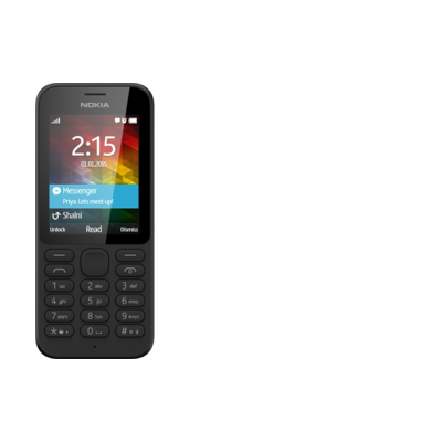 Nokia 215 Black Single Sim
