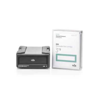 Hewlett Packard Enterprise RDX 3TB USB 3.0 Datatape - Zwart