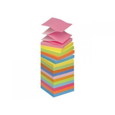 Post-it zelfklevend notitiepapier: Notitieblok Z-Note 76x76 neon kleur/pk16