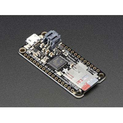 Adafruit : Feather M0 Adalogger, ATSAMD21G18 48 MHz, 256 KB flash, 32 KB RAM, 8x PWM pins, 10x analog in, 20x GPIO .....
