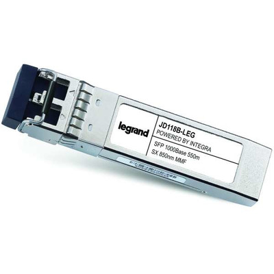 Legrand HP® JD118B compatibele 1000BASE-SX MMF SFP (MINI-GBIC) ontvangstmodule Netwerk tranceiver module - Grijs