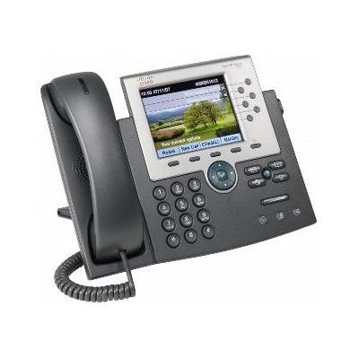 Cisco dect telefoon: Unified IP Phone 7965G w/ 1 RTU License - Zwart, Zilver