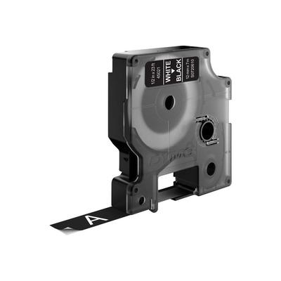 DYMO D1 -Standard Labels - White on Black - 12mm x 7m Labelprinter tape