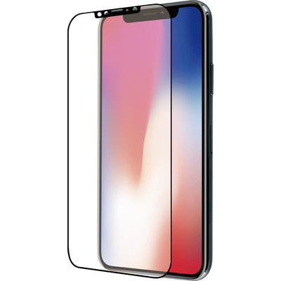 Azuri 2x Curved Tempered Glass RINOX ARMOR - zwart - voor iPhone X/Xs/11 Pro Screen protector - Transparant