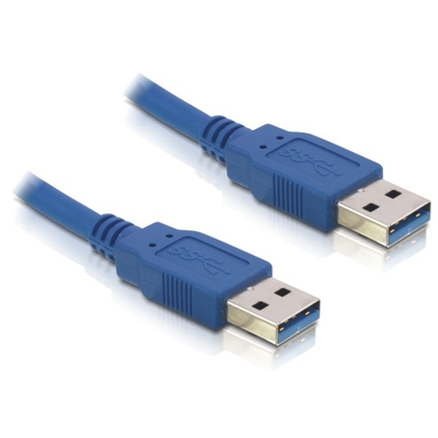 DeLOCK Cable USB 3.0-A male/male USB kabel - Blauw
