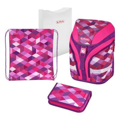 Herlitz : Pink Cubes - Roze