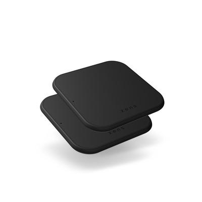 ZENS Single Wireless Charger – Twin Pack Oplader - Zwart