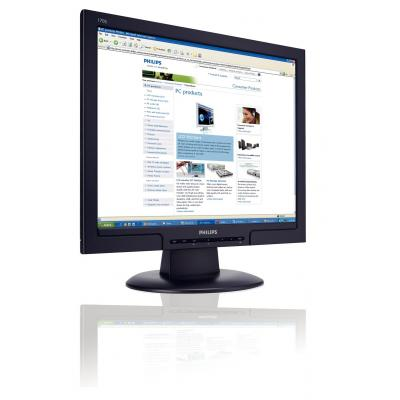 "Philips monitor: 43.18 cm (17 "") SXGA LCD, Zwart, 5ms, 300cd/m2, DVI-D (Approved Selection Budget Refurbished)"