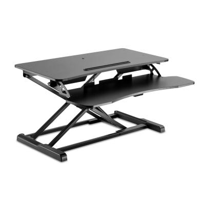 V7 Sit-Stand Essential Desktop Workstation - Zwart