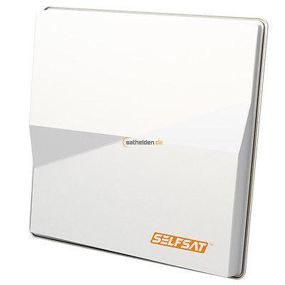 Selfsat antenne: H50M4 - 10.7 ~ 12.75 GHz, 33.7 dBi, 150mA, 4 x LNB, 8.5 kg - Wit