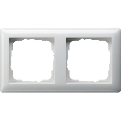 GIRA Afdekraam Standaard 55 zuiver wit glanzend, tweevoudig
