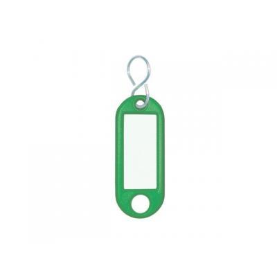 Wedo sleutehanger: Sleutellabel Groen, S-Ring, ø 15 mm (verpakking 10 stuks)