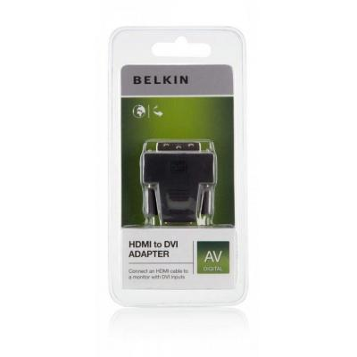 Belkin kabel adapter: HDMI - DVI Adapter - Zwart