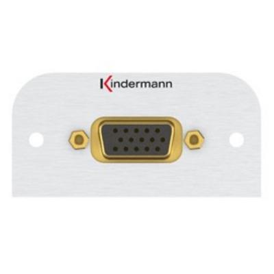 Kindermann 7441000600 Wandcontactdoos - Aluminium