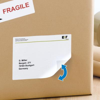 Herma adreslabel: Repositionable address labels A4 99.1x139 mm white Movables paper matt 400 pcs. - Wit