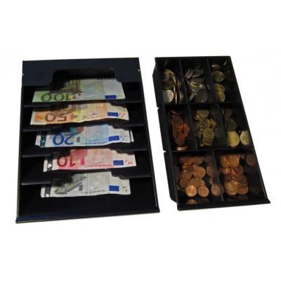 Apg cash drawer : 8xCoin, 5xNote, Vasario 1313, Black - Zwart