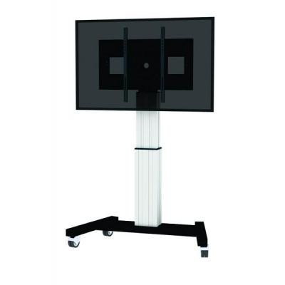 Newstar TV standaard: PLASMA-M2500SILVER flat panel vloer standaard - Zwart, Wit