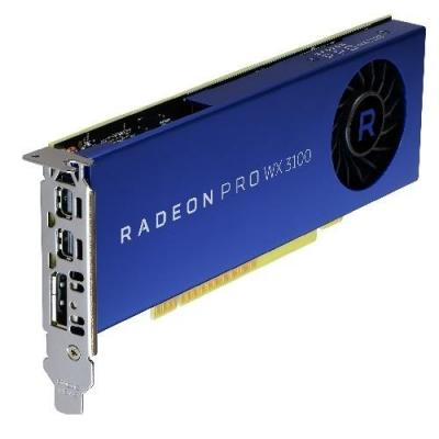 Dell videokaart: AMD Radeon Pro WX 3100, 4 GB, DisplayPort/2 x Mini DisplayPort - Blauw