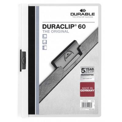 Durable Duraclip 60 Stofklepmap - Transparant, Wit