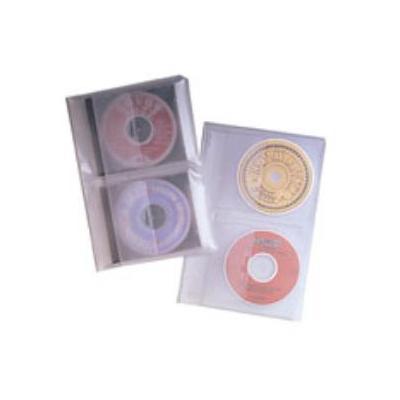 Fellowes : 10x Ringbandbladen voor CD's - Doorschijnend