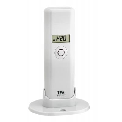 Tfa temperatuur straalzender: 868 Mhz, -40 - 60°C, 2xAAA 1.5V, 83x61x135mm, 56g, White - Wit