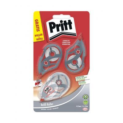 Pritt film/tape correctie: correctieroller Refill Roller Midway correctieroller 4.2 mm + 5 navullingen op blister - .....