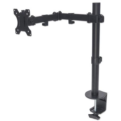 "Manhattan Monitor Desk Mount (clamp), 1 screen, 10-27"", Vesa 75x75 to 100x100mm, 3 pivots, Height 0-40cm, Max ....."