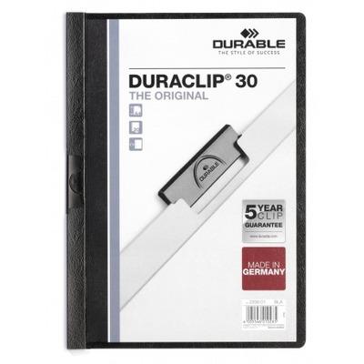 Durable Duraclip 30 Stofklepmap - Zwart, Transparant
