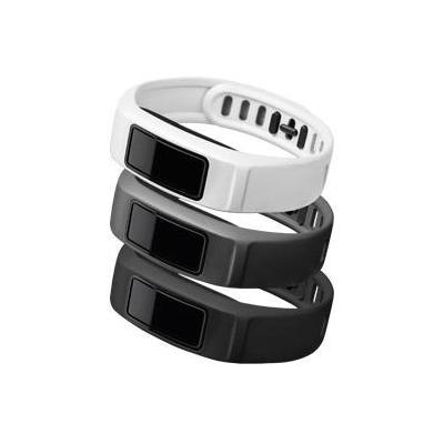 """Garmin : 3 x banden voor Vivofit 2, L (6.0-8.3""""/152-210 mm), Neutraal (zwart/wit/grijs) - Zwart, Grijs, Wit"""