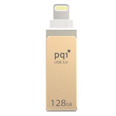 PQI iConnect mini USB flash drive - Goud