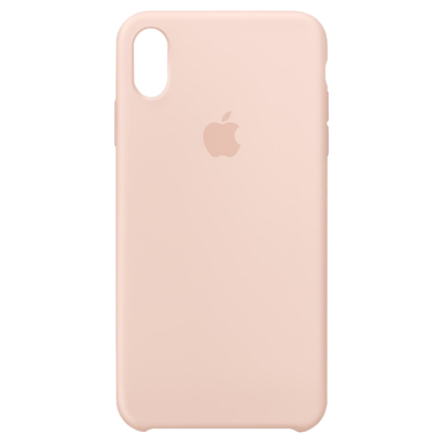 Apple Siliconenhoesje voor iPhone XS Max - Rozenkwarts mobile phone case - Roze, Zand