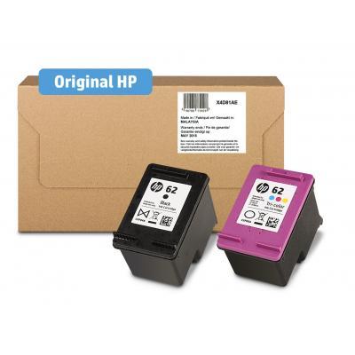 Hp inktcartridge: 62 Ink Cartridge brievenbus Combo 2-Pk