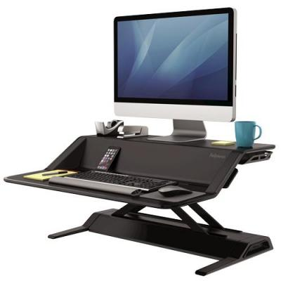 Fellowes : Lotus Sit-Stand Workstation - Black - Zwart