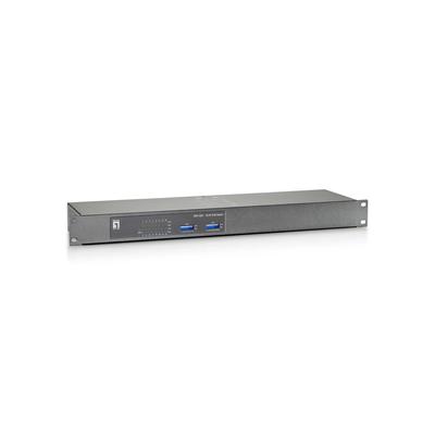 LevelOne 16 x RJ-45, Fast Ethernet, PoE Switch - Grijs,Metallic
