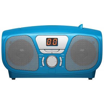 Bigben interactive CD-radio: Draagbare radio/CD speler met stickers - Blauw