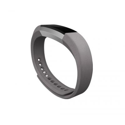 Fitbit : Alta Leather Band, Graphite Leather, Large - Grafiet
