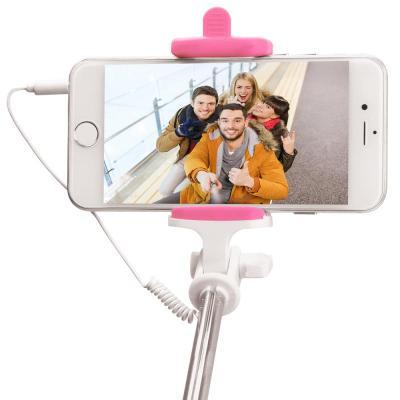 Pny : Cable Selfie Stick - Pink - Roze, Wit
