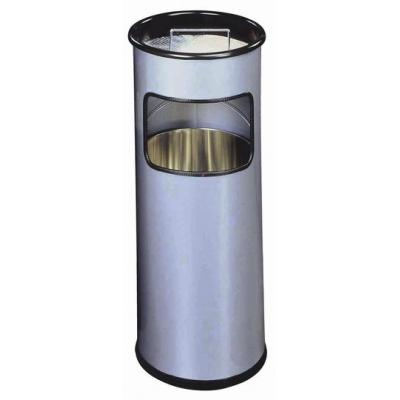 Durable prullenbak: Waste basket metal, ashtray round - Zilver