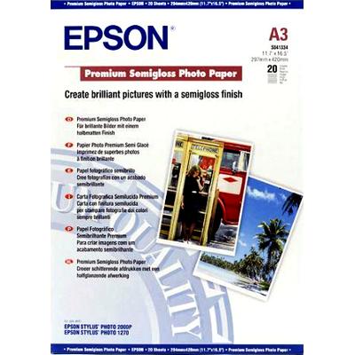 Epson Premium Semigloss Photo Paper, DIN A3, 251g/m², 20 Vel Fotopapier - Wit
