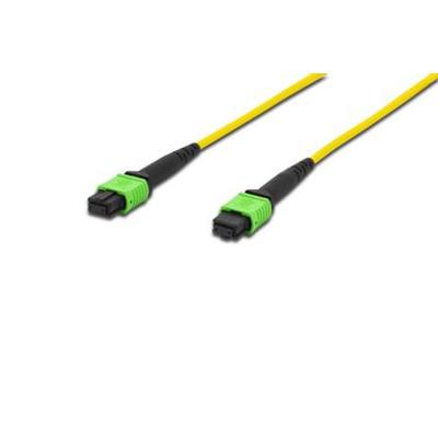 Digitus MPO Patch Cables, OS2, Singlemode 09/125, 3m, Yellow Fiber optic kabel - Geel