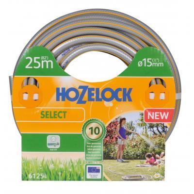 Hozelock tuinslang: tuinslang Select Ø 15 mm 25 meter - Grijs, Geel