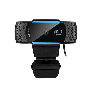 Adesso CyberTrack H5 Webcam - Zwart, Blauw