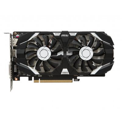 MSI GeForce GTX 1050 Ti 4GT OC Videokaart - Zwart, Grijs
