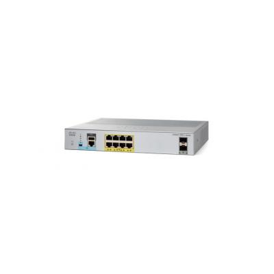 Cisco switch: 8Port PoE Gigabit Layer 2 Managed Switch with Dual SFP - Grijs